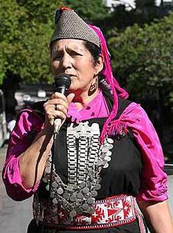 La lonko Juana Calfunao es fundadora de la Comisión Ética Contra la Tortura