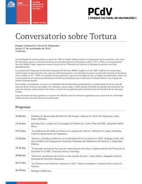 Programa Conversatorio sobre Tortura F-01