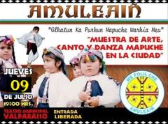 Muestra de arte, canto y danza mapuch en la ciudad