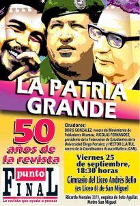 50 AÑOS PUNTO FINAL AFICHE