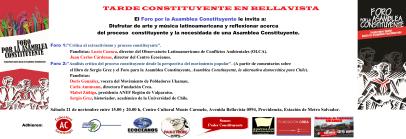 Tarde Constituyente en Bellavista, 21.11.2015