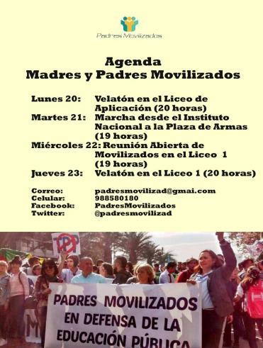 Agenda de movilizados